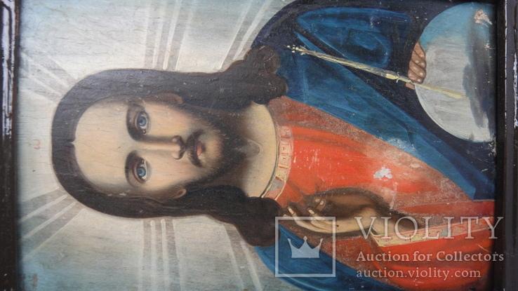5 старинных икон одним лотом: Святой Троицы, Богородицы, Вседержитель - 3шт., фото №6
