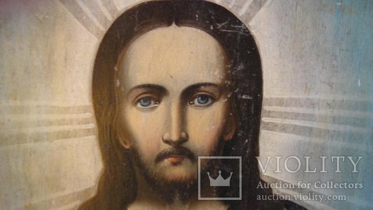 5 старинных икон одним лотом: Святой Троицы, Богородицы, Вседержитель - 3шт., фото №7