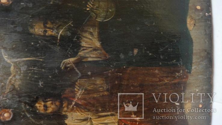 5 старинных икон одним лотом: Святой Троицы, Богородицы, Вседержитель - 3шт., фото №9