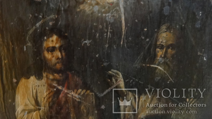 5 старинных икон одним лотом: Святой Троицы, Богородицы, Вседержитель - 3шт., фото №10