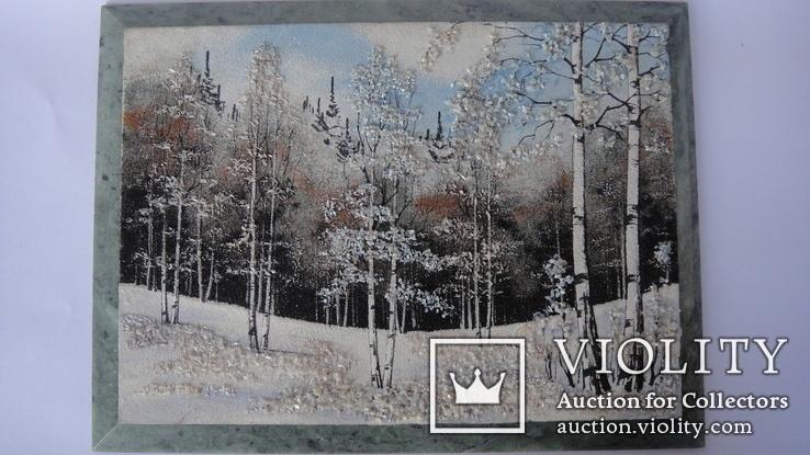 Природный пейзаж из уральских камней, самоцветы  СССР, фото №7