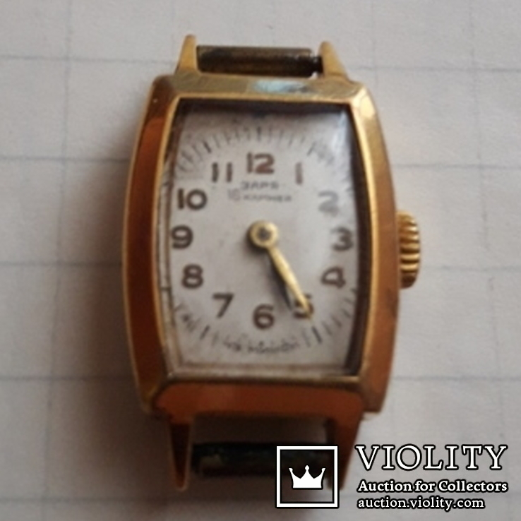 Часы ссср Заря в позолоченом корпусе, фото №4