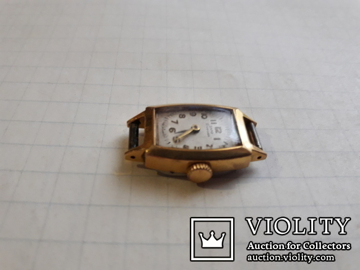 Часы ссср Заря в позолоченом корпусе, фото №2