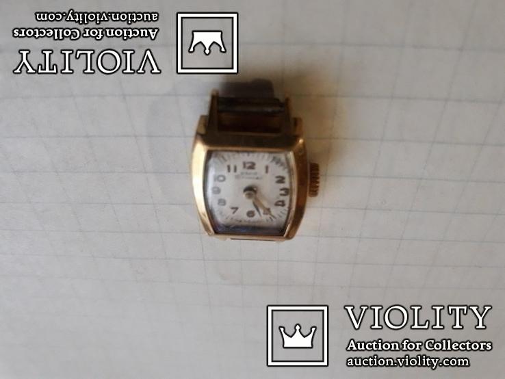 Часы ссср Заря в позолоченом корпусе, фото №7