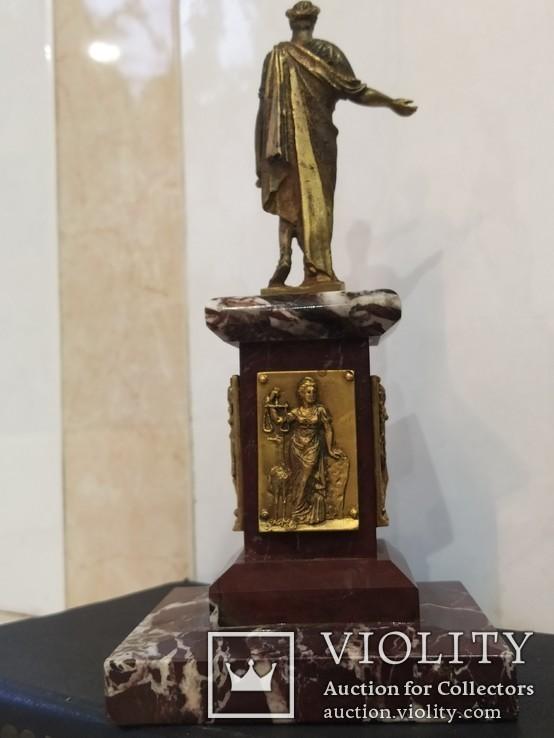 Дюк де Ришелье скульптура на мраморе 22,5 см, фото №6