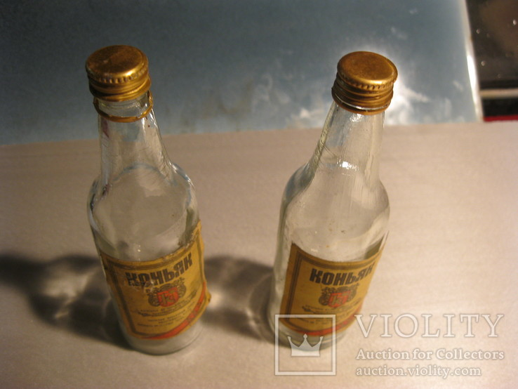 Пляшка від коньяку 100грам ссср 2шт, фото №7