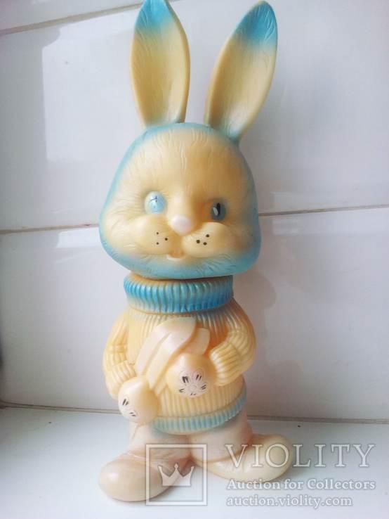 Игрушка заяц - лыжник., фото №2