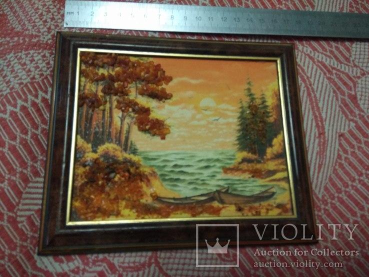 Пейзаж 1. Картина из янтаря, фото №2
