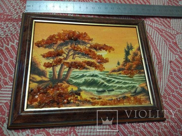 Пейзаж 2. Картина из янтаря, фото №2