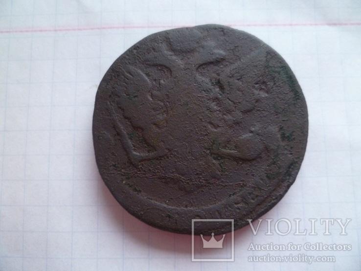 Лот монет 18 века. ( 5 копеек и 1 копейка 1760 г.г.), фото №8