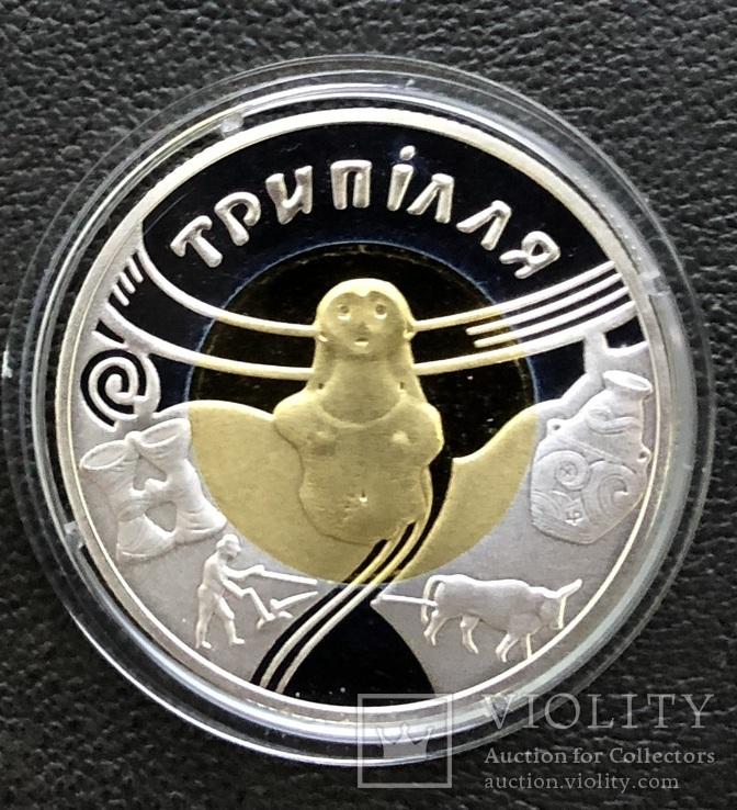 20 гривень 2000 року. Трипілля. Золото/срібло. Банківський стан, фото №4