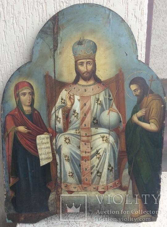 Икона Спас на троне,  большая