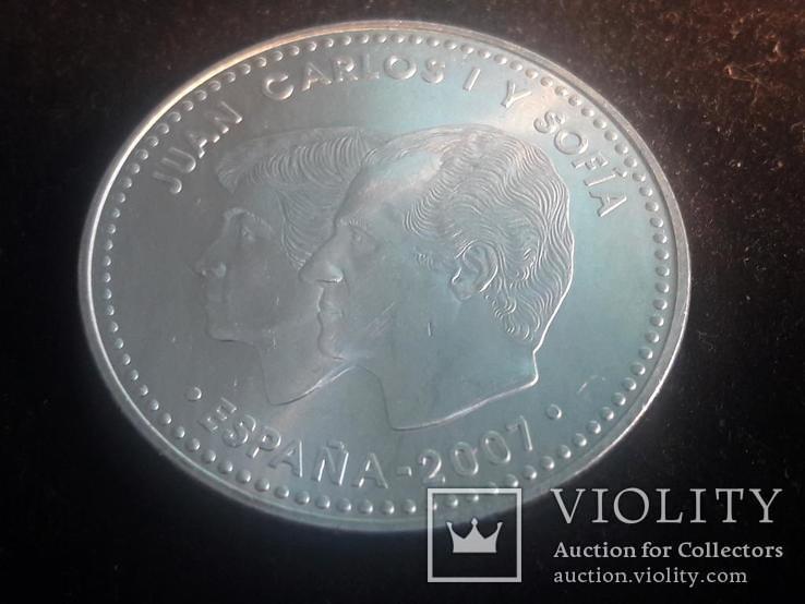 """Испания, 12 серебряных евро """"50 лет Римскому договору"""" 2007 г., фото №2"""