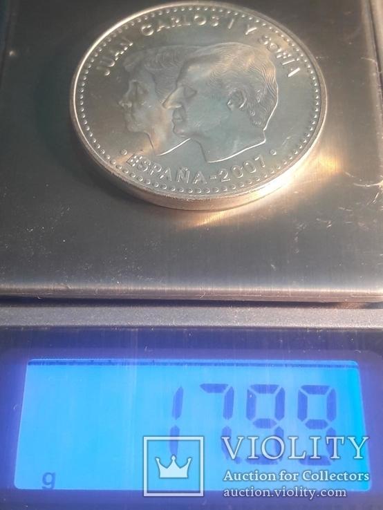 """Испания, 12 серебряных евро """"50 лет Римскому договору"""" 2007 г., фото №3"""