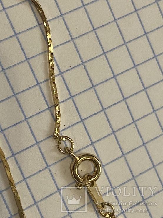 Винтажный позолоченый набор с Англии колье + браслет, фото №4