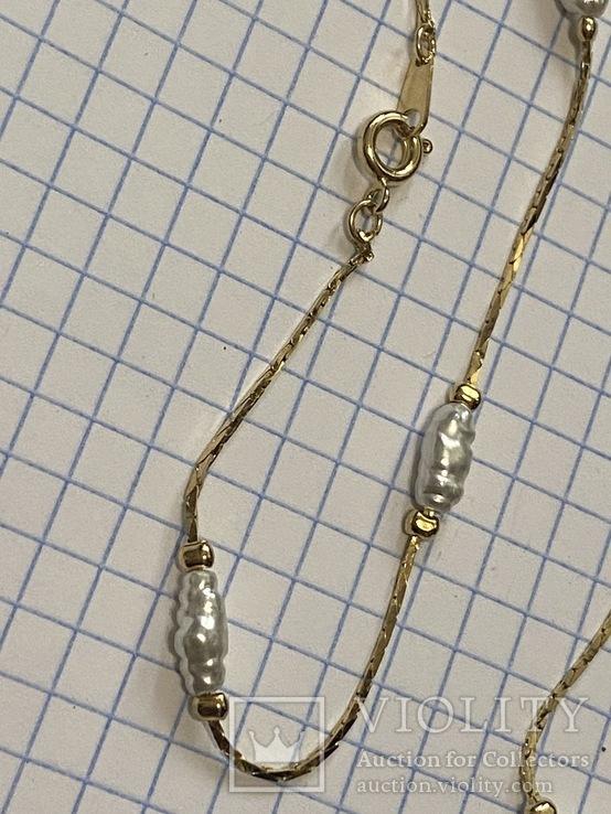 Винтажный позолоченый набор с Англии колье + браслет, фото №7