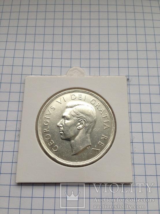 Канада. 1 доллар. 1949 г. Серебро. 800 пр. 23,33 гр.
