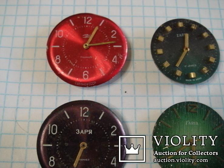 """Часовой механизм """"Заря"""" с циферблатом 4шт. (цветные), фото №3"""
