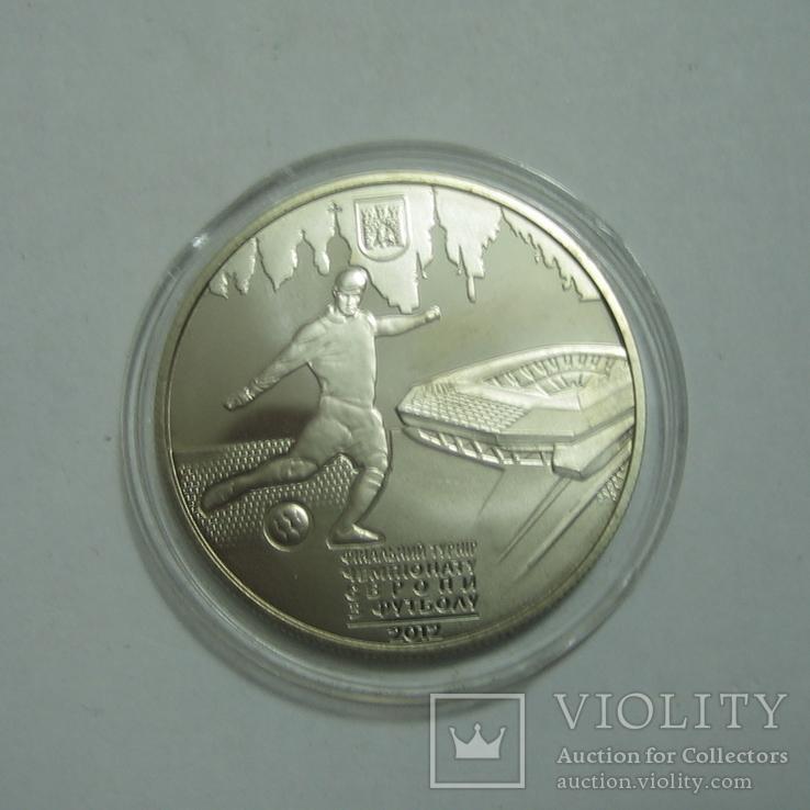 Украина 5 гривень 2011 года. Евро-2012 г. Львов, фото №2