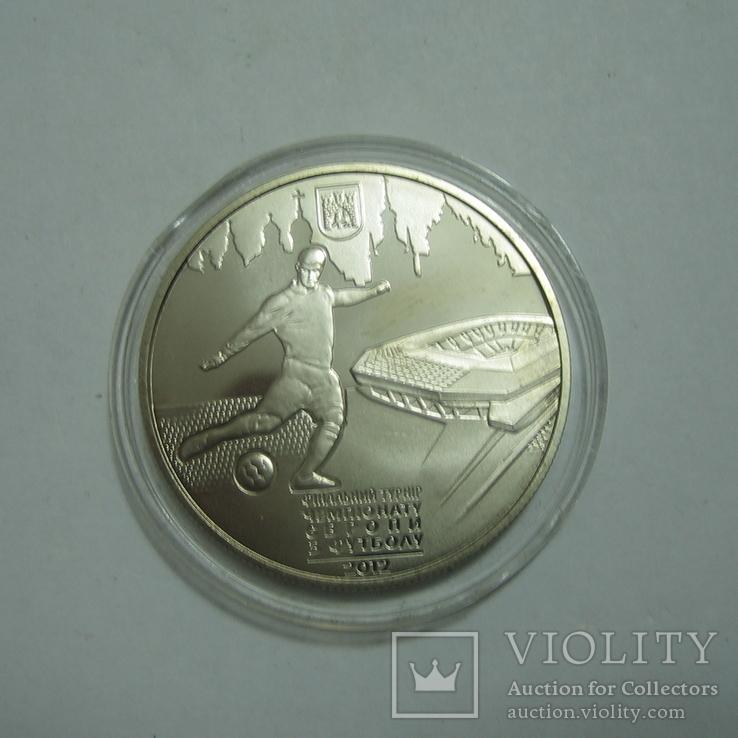 Украина 5 гривень 2011 года. Евро-2012 г. Львов, фото №3
