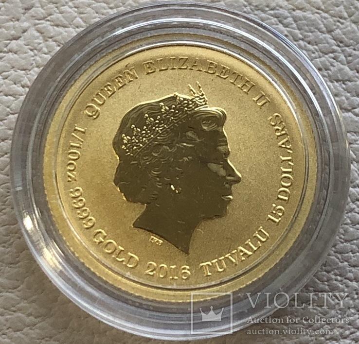 15 $ 2016 год Тувалу золото 3,11 грамм 999,9', фото №3
