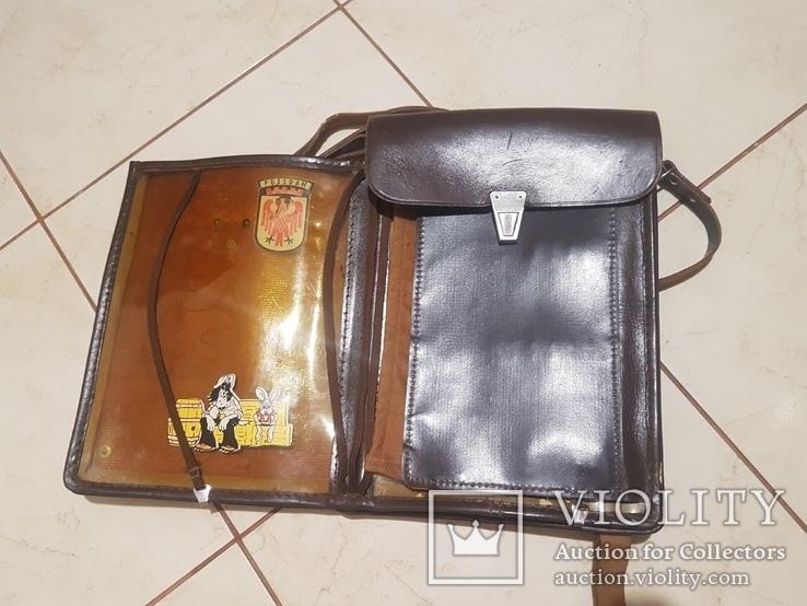 Планшет кожаный, сумка полевая Potsdam, фото №2
