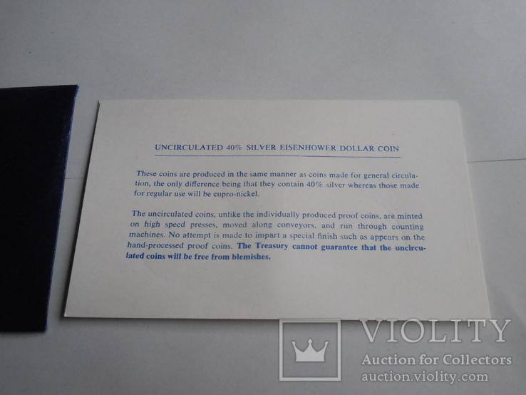1 Доллар 1974г  в запайке с жетоном, в конверте, фото №10