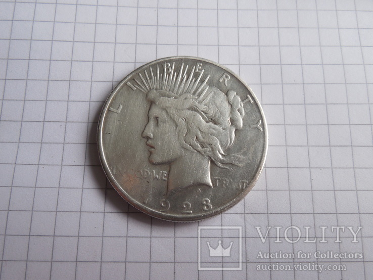 1 доллар 1923г США, фото №2