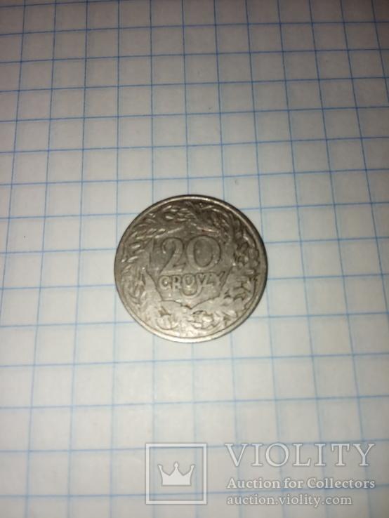 20 грошей 1923 Польша, фото №2