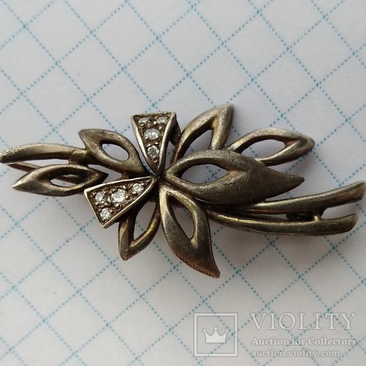 Брошь Серебро 925пр. кл.тризуб, фото №2