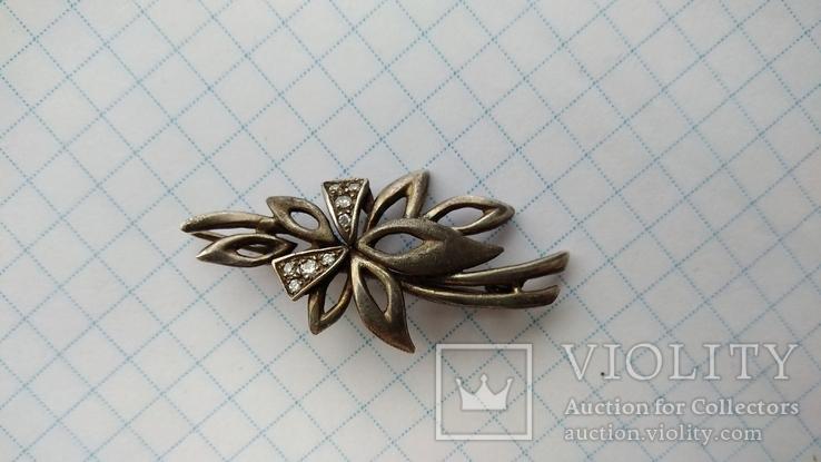 Брошь Серебро 925пр. кл.тризуб, фото №5