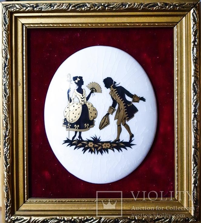 Английская керамическая миниатюра ручной работы. Стаффордширская керамика