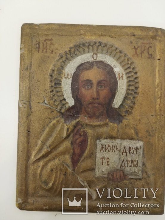 Пара Христос та Матір Божа (глина) 10.5х8.3х7, фото №4