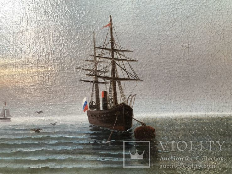 Корабль у берегов худ. М. Рейнусь, фото №9