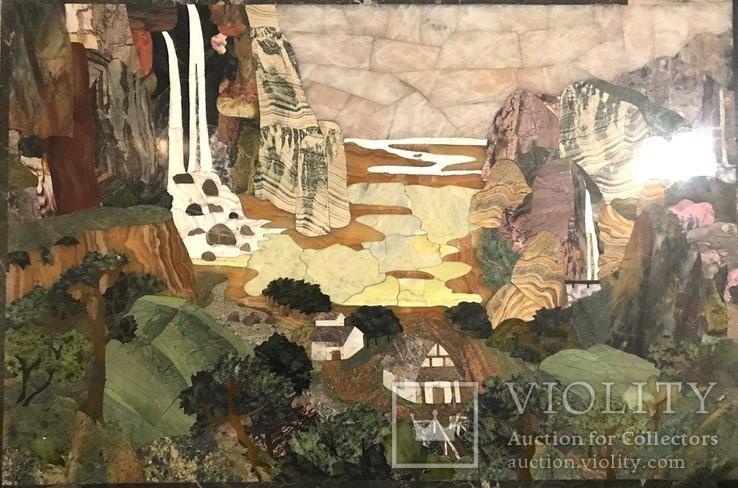 Флорентийская мозаика декоративное панно, фото №2