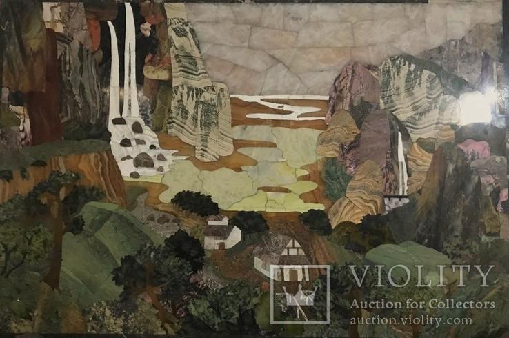 Флорентийская мозаика декоративное панно, фото №3