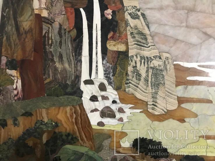 Флорентийская мозаика декоративное панно, фото №4
