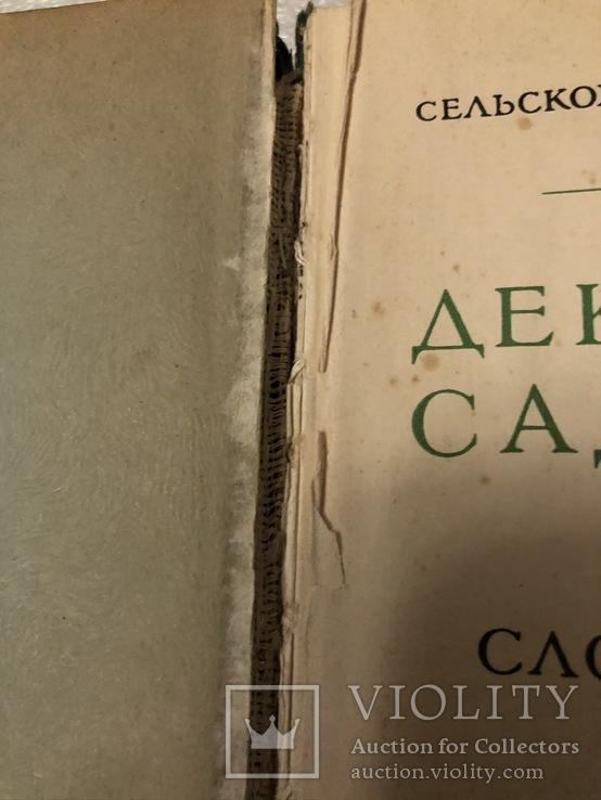 Декоративное садоводство краткий словарь-справочник 1949 г. №7к, фото №4