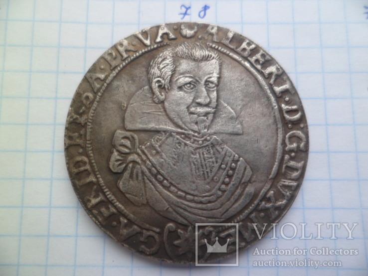 1 талер 1630 год  Альберт Германия копия, фото №2