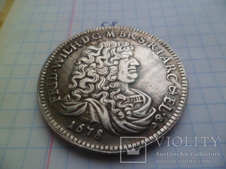 Талер 1678 рік копія, фото №3
