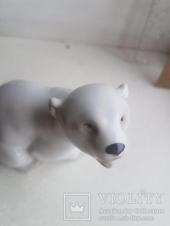 Статуэтка Белый Медведь ЛФЗ 1 сорт, фото №4