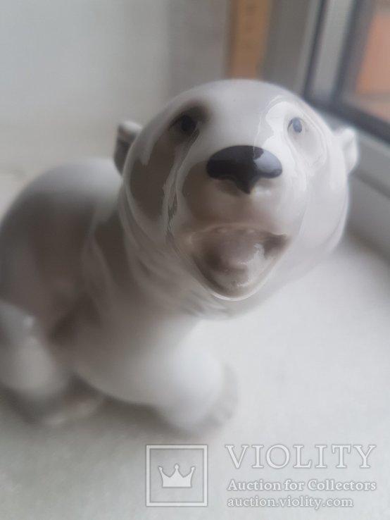 Статуэтка Белый Медведь ЛФЗ 1 сорт, фото №8