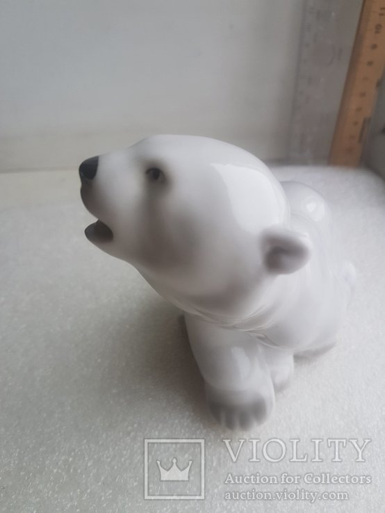 Статуэтка Белый Медведь ЛФЗ 1 сорт, фото №9