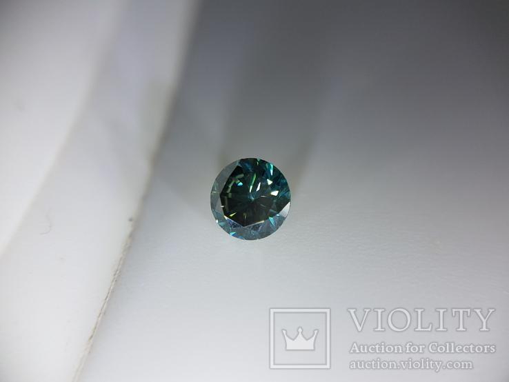Природный фантазийный бриллиант 0,52 карат с сертификатом, фото №3