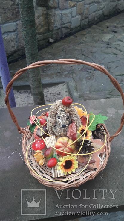 Композиція їжачок і осінь., фото №3