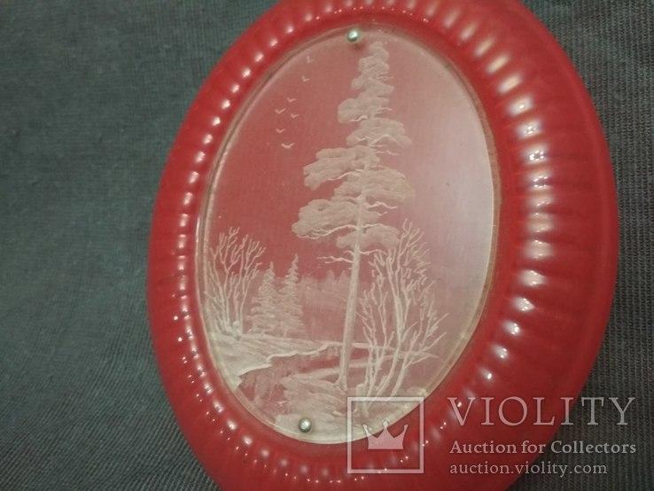 Красивая крупная шкатулка с гравировкой, фото №3