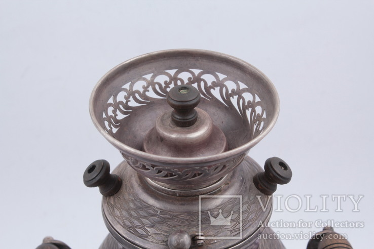Походный самовар из серебра 84°. Клеймо '' В•С 1862 '', фото №6