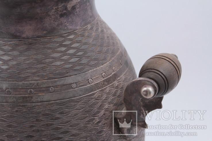 Походный самовар из серебра 84°. Клеймо '' В•С 1862 '', фото №7