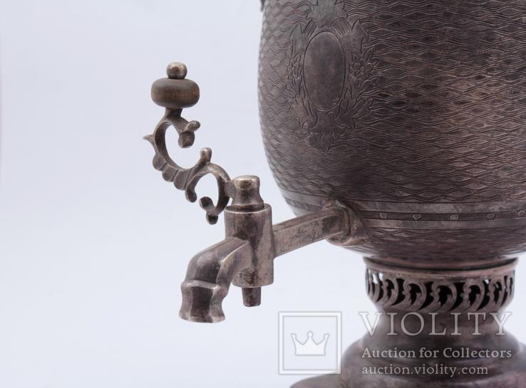 Походный самовар из серебра 84°. Клеймо '' В•С 1862 '', фото №10