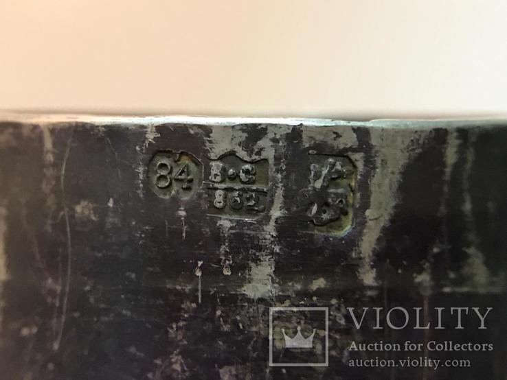 Походный самовар из серебра 84°. Клеймо '' В•С 1862 '', фото №12
